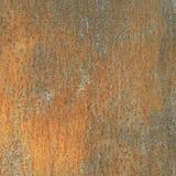 Rostige Wand mit Kupfer stockbild