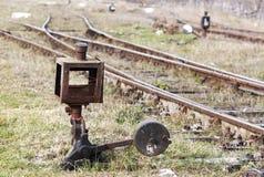 Rostiger alter Schalter Stockfotografie