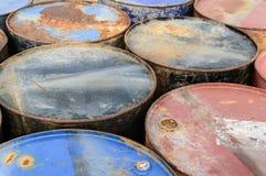 Rostiger Brennstoff Stockfoto