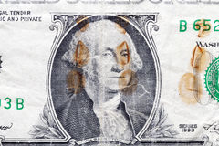 Rostiger Dollar, Nahaufnahme Lizenzfreie Stockfotografie