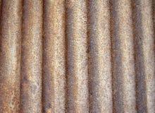 Rostiger gebogener Metallhintergrund Stockbild