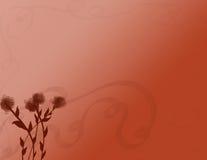 Rostiger Hintergrund mit Blumen Stockbild