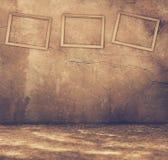 Rostiger Innenraum mit Feldern Lizenzfreie Stockbilder