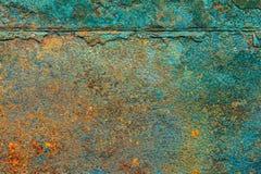 Rostiger Metallbeschaffenheitshintergrund für Innenaußendekoration lizenzfreie stockfotografie