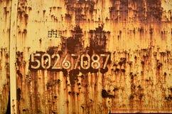 Rostiger Metallhintergrund Lizenzfreies Stockbild