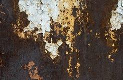 Rostiger Metallhintergrund mit Streifen des Rosts Lizenzfreies Stockfoto