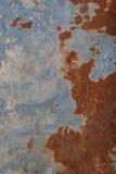 Rostiger metallischer Beschaffenheitshintergrund Lizenzfreies Stockbild