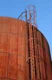 Rostiger Schmieröl-Behälter Stockfotografie