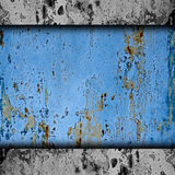 Rostiges altes des blauen Rosts des Beschaffenheitshintergrundes Metall Stockbilder
