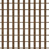 Rostiges Gefängnisfenster Lizenzfreies Stockfoto