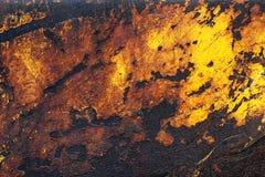 Rostiges gelbes Metall Lizenzfreies Stockfoto