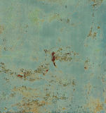Rostiges gemaltes Metall Stockfoto