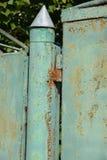 Rostiges gemaltes Metall Lizenzfreies Stockbild