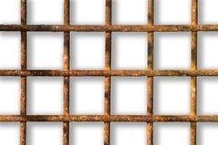 Rostiges Gitter auf einem weißen Hintergrund lizenzfreies stockbild