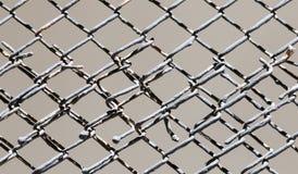 Rostiges Gitter des Hintergrundes stockfotos