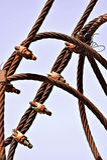 Rostiges industrielles Kabel lizenzfreies stockfoto
