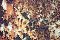 Rostiges Metall der Beschaffenheit Lizenzfreie Stockbilder