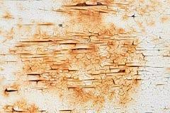 Rostiges Metall der schäbigen Farbe Stockfotografie