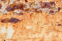 Rostiges Metall der schäbigen Farbe Lizenzfreies Stockfoto