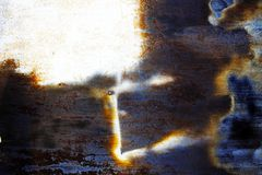 Rostiges Metall mit alter gebrochener Farbe Lizenzfreies Stockfoto