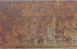 Rostiges Metall mit Spuren der Farbe Lizenzfreies Stockfoto