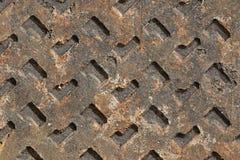 Rostiges Metallplatten Stockfoto