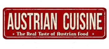 Rostiges Metallschild der österreichischen Kücheweinlese Stockbild