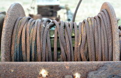 Rostiges Metallseil Lizenzfreies Stockfoto