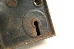 Rostiges Schlüsselloch Lizenzfreie Stockfotografie