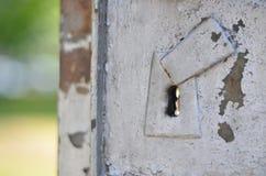 Rostiges Schlüsselloch Stockfoto