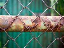 Rostiges Stahlineinander greifen Lizenzfreie Stockbilder