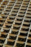 Rostiges Stahlrasterfeld Lizenzfreie Stockbilder