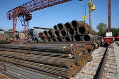 Rostiges steel-concrete Stockfoto