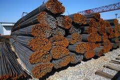 Rostiges steel-concrete Lizenzfreie Stockbilder