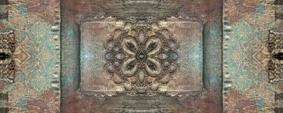 Rostigt brons obegränsad textur royaltyfri fotografi