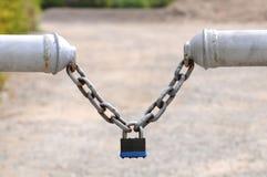 rostigt chain lås Arkivbild