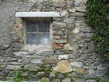 Rostigt fönster med spindelnät Royaltyfri Foto