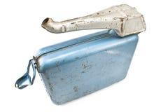 rostigt för jerry lock för bensin kan gammalt Royaltyfri Bild