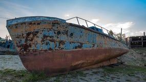 rostigt fartyg Arkivbild