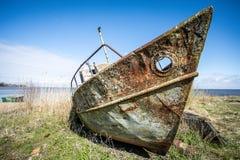 rostigt fartyg royaltyfri fotografi