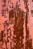 Rostigt gammalt målat järn Arkivbild