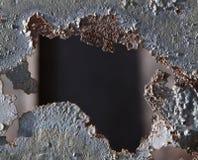 rostigt hål Arkivbilder