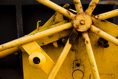 rostigt industriellt maskineri Arkivbilder