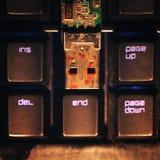 Rostigt kontaktdon för USB exponeringsdrev Arkivfoto