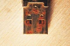 Rostigt kontaktdon för USB exponeringsdrev Royaltyfri Fotografi