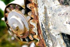 Rostigt kugghjul-hjul Arkivfoto