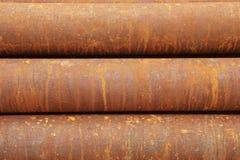 rostigt metallrør Royaltyfria Bilder