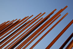 rostigt metallrør Royaltyfri Foto