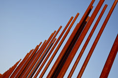 rostigt metallrør Fotografering för Bildbyråer