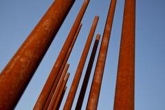 rostigt metallrør Arkivbilder